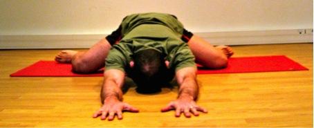 La posture de yoga : la grenouille