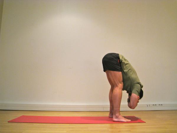 Posture de Yoga : debout en flexion vers l'avant